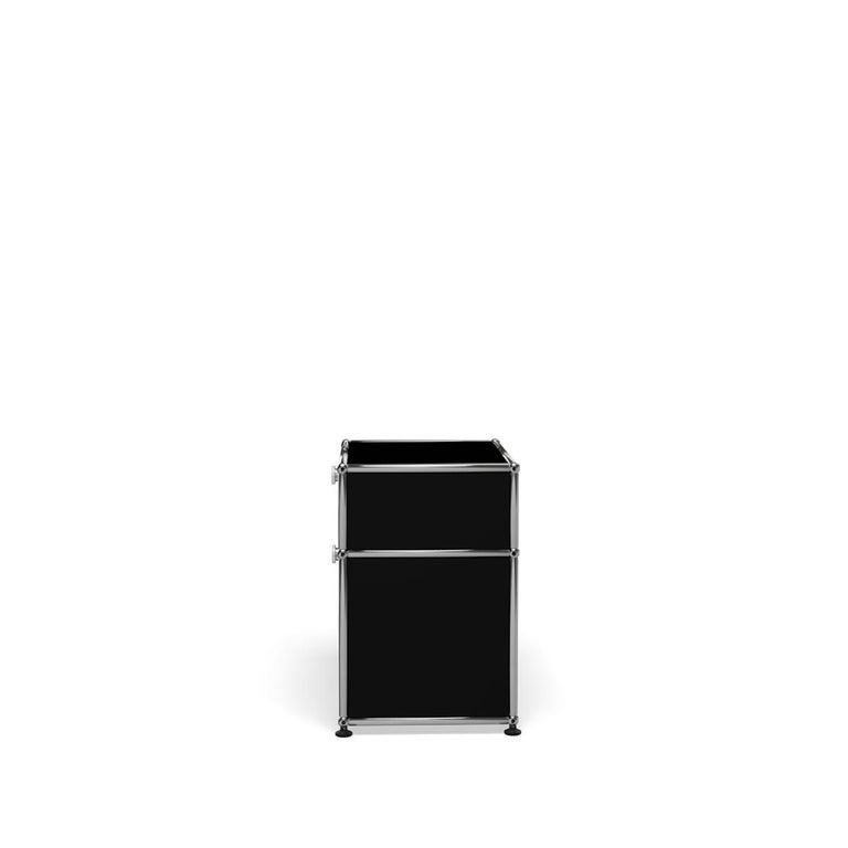 For Sale: Black (Graphite Black) Haller Nightstand P1 Storage System by USM 3