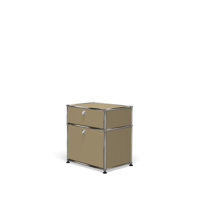 For Sale: Beige Haller Nightstand P1 Storage System by USM 2