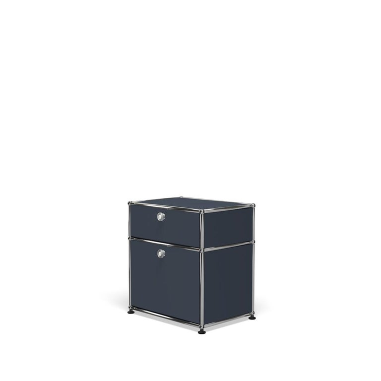 For Sale: Gray (Anthracite) Haller Nightstand P1 Storage System by USM 2