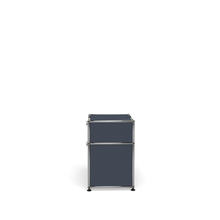 For Sale: Gray (Anthracite) Haller Nightstand P1 Storage System by USM 3