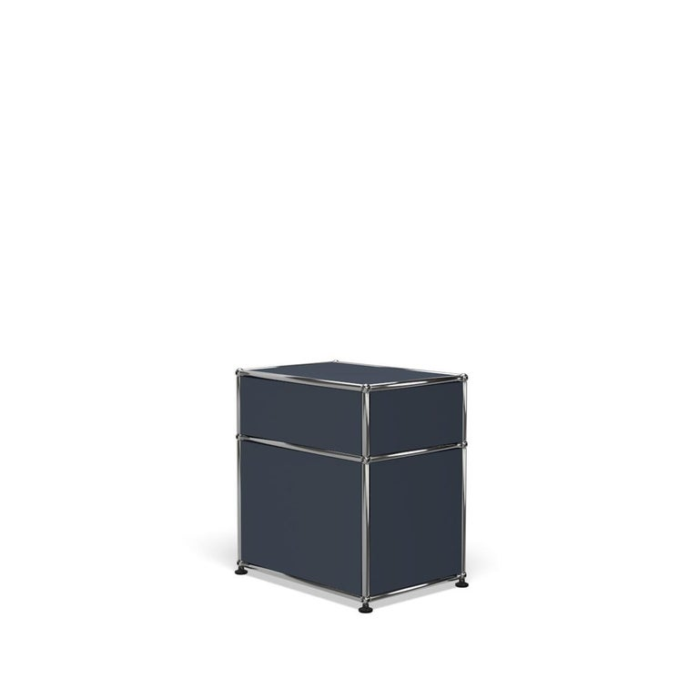 For Sale: Gray (Anthracite) Haller Nightstand P1 Storage System by USM 5