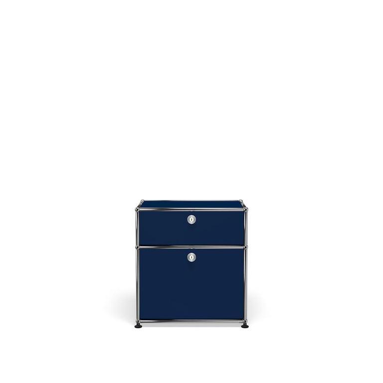 For Sale: Blue (Steel Blue) Haller Nightstand P1 Storage System by USM