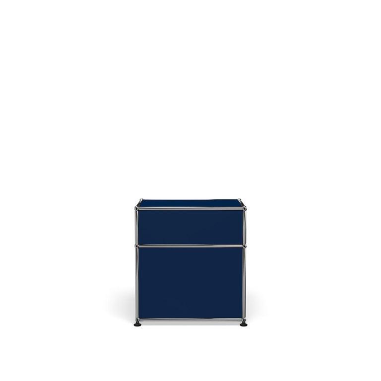 For Sale: Blue (Steel Blue) Haller Nightstand P1 Storage System by USM 4