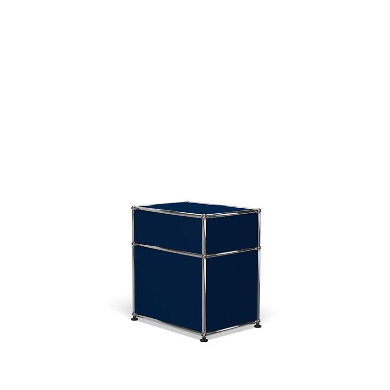 For Sale: Blue (Steel Blue) Haller Nightstand P1 Storage System by USM 5