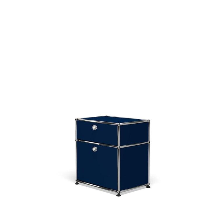 For Sale: Blue (Steel Blue) Haller Nightstand P1 Storage System by USM 2