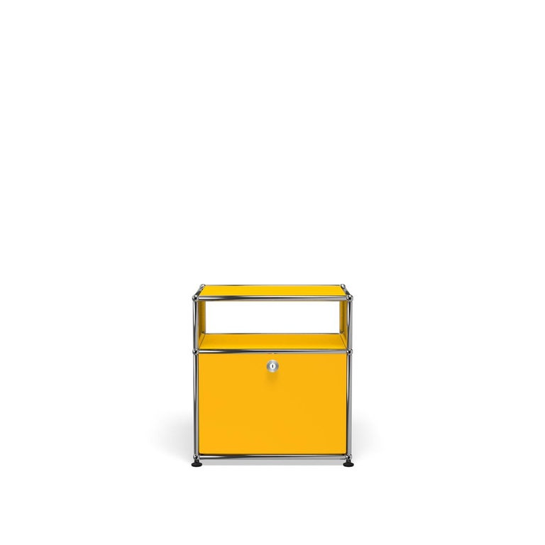 For Sale: Yellow (Golden Yellow) Haller Nightstand P Storage System by USM