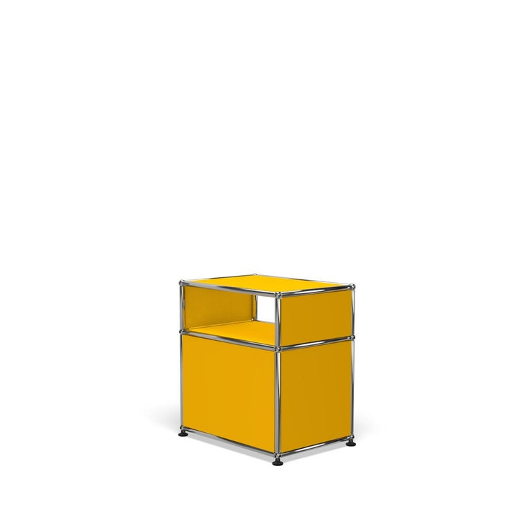 For Sale: Yellow (Golden Yellow) Haller Nightstand P Storage System by USM 5