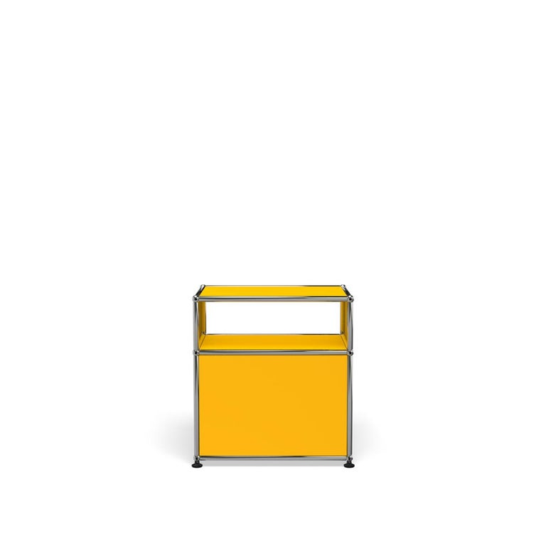 For Sale: Yellow (Golden Yellow) Haller Nightstand P Storage System by USM 4