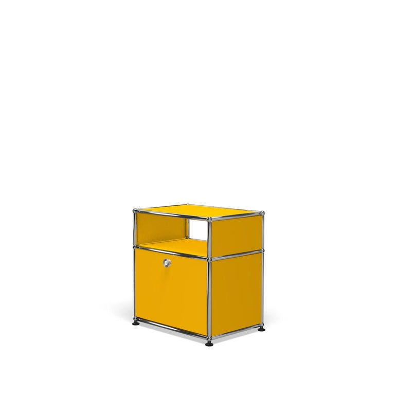 For Sale: Yellow (Golden Yellow) Haller Nightstand P Storage System by USM 2