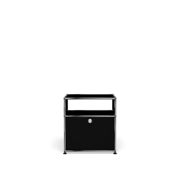 For Sale: Black (Graphite Black) USM Haller Nightstand P Storage System