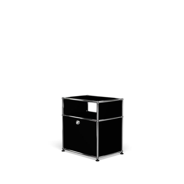 For Sale: Black (Graphite Black) USM Haller Nightstand P Storage System 2