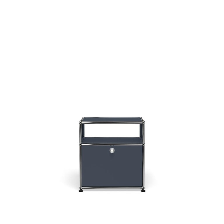 For Sale: Gray (Anthracite) Haller Nightstand P Storage System by USM