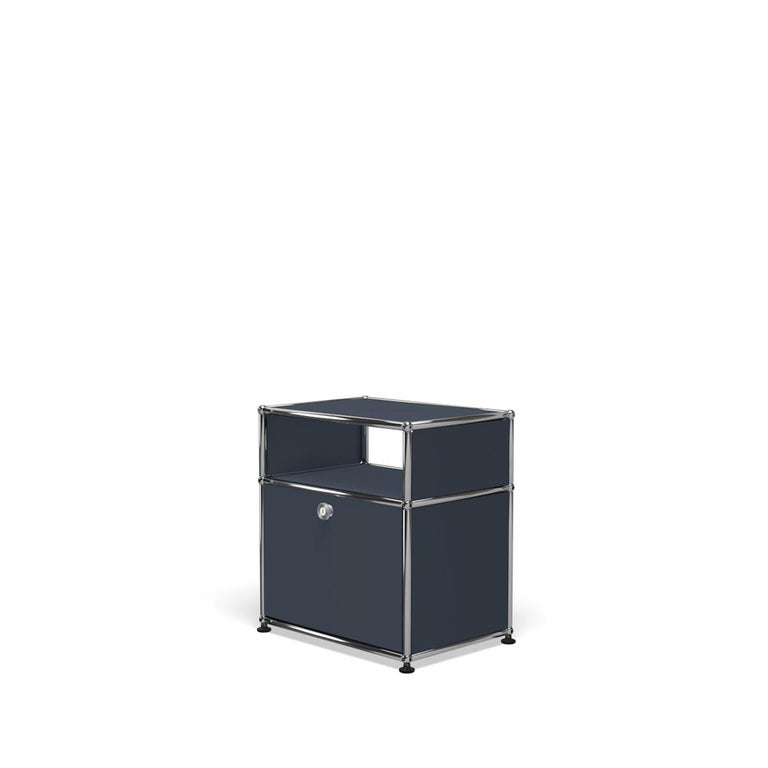 For Sale: Gray (Anthracite) Haller Nightstand P Storage System by USM 2