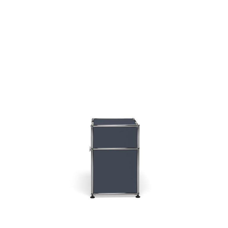 For Sale: Gray (Anthracite) Haller Nightstand P Storage System by USM 3