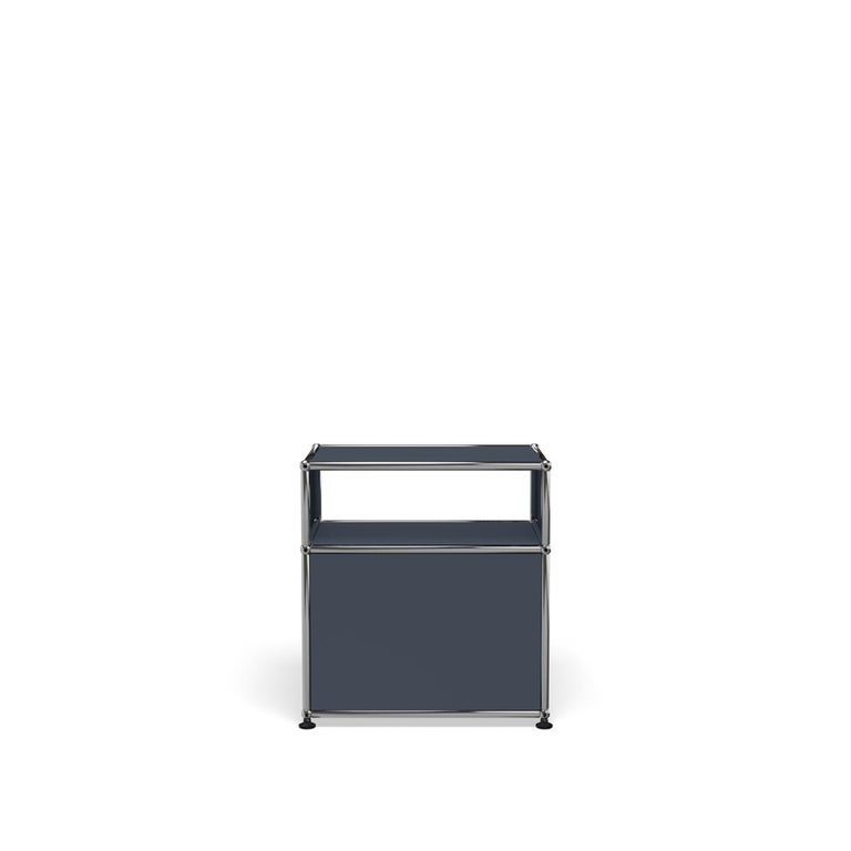 For Sale: Gray (Anthracite) Haller Nightstand P Storage System by USM 4
