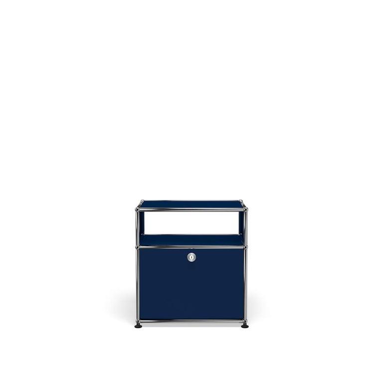 For Sale: Blue (Steel Blue) USM Haller Nightstand P Storage System
