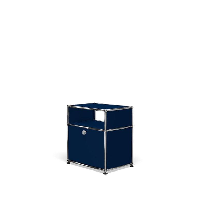 For Sale: Blue (Steel Blue) USM Haller Nightstand P Storage System 2