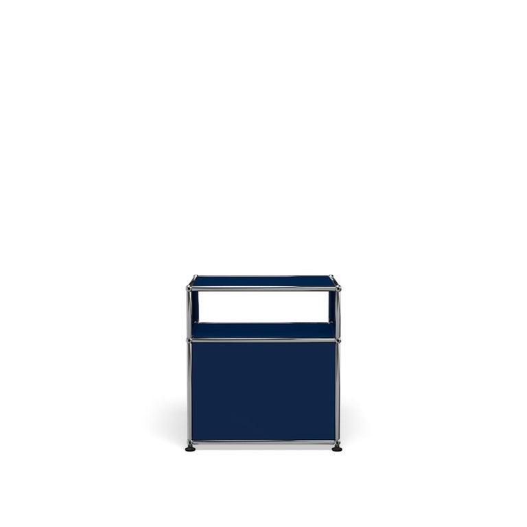 For Sale: Blue (Steel Blue) USM Haller Nightstand P Storage System 4