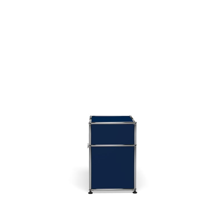For Sale: Blue (Steel Blue) USM Haller Nightstand P Storage System 3