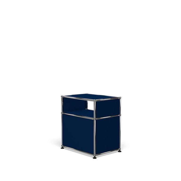 For Sale: Blue (Steel Blue) USM Haller Nightstand P Storage System 5