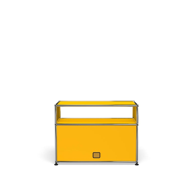 For Sale: Yellow (Golden Yellow) Haller Side Table 0118 by USM 4