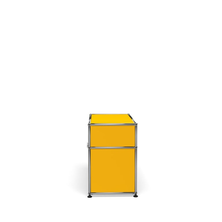 For Sale: Yellow (Golden Yellow) Haller Side Table 0118 by USM 3