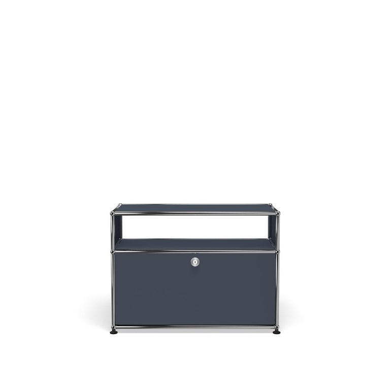 For Sale: Gray (Anthracite) Haller Side Table 0118 by USM