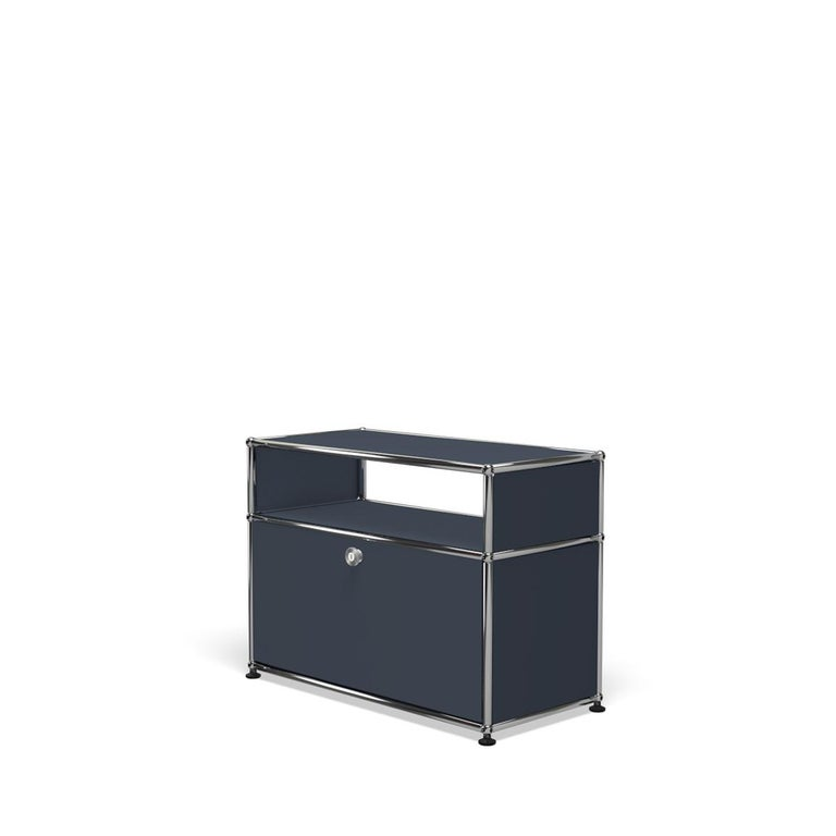 For Sale: Gray (Anthracite) Haller Side Table 0118 by USM 2