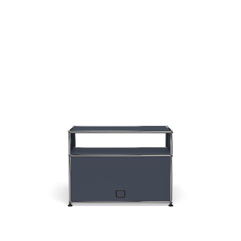 For Sale: Gray (Anthracite) Haller Side Table 0118 by USM 4
