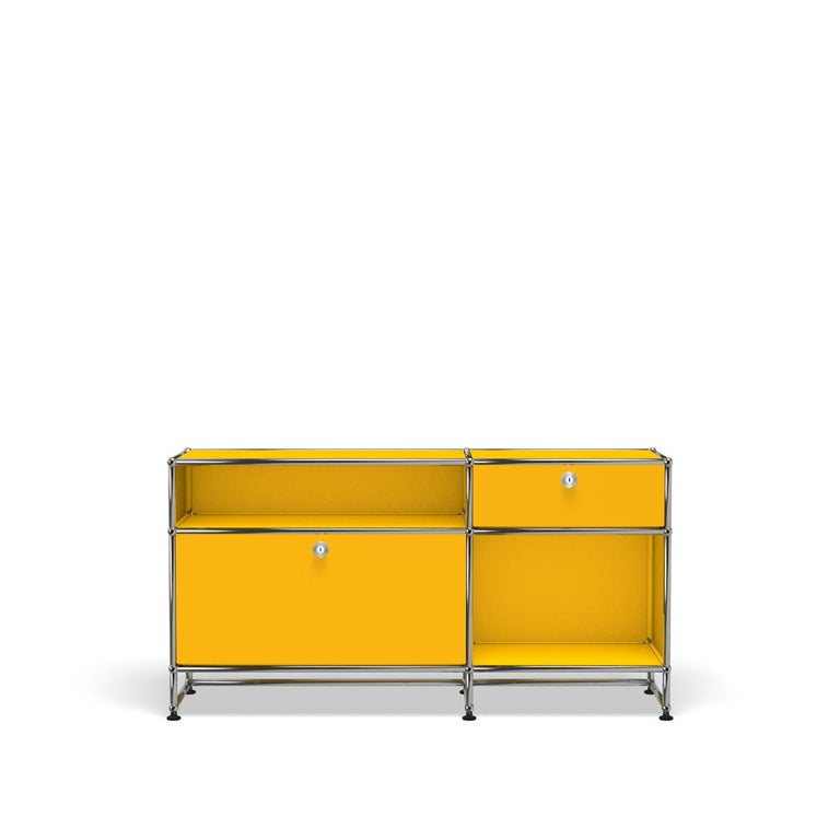 For Sale: Yellow (Golden Yellow) USM Haller Media O3 Storage System
