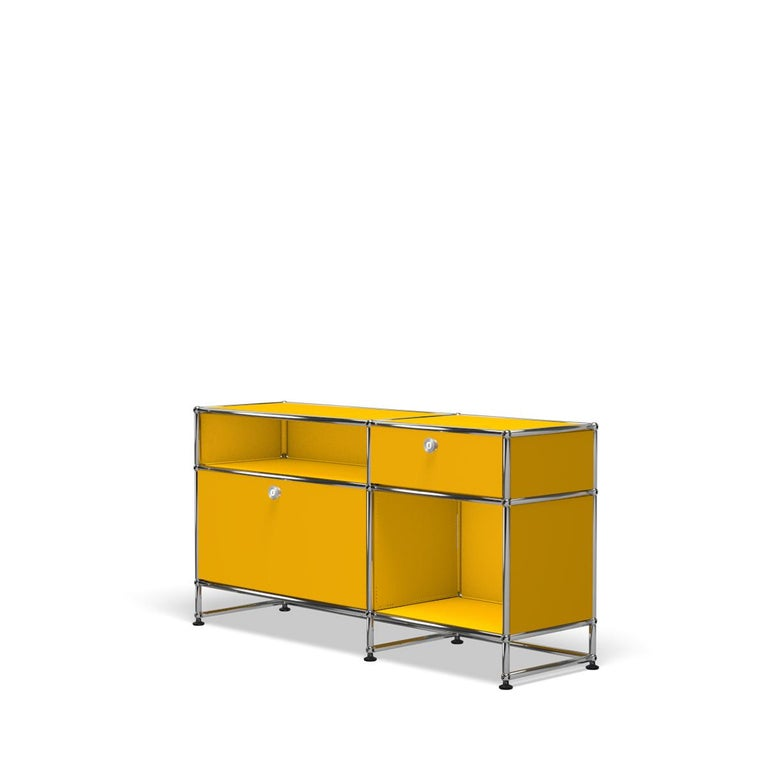 For Sale: Yellow (Golden Yellow) USM Haller Media O3 Storage System 2