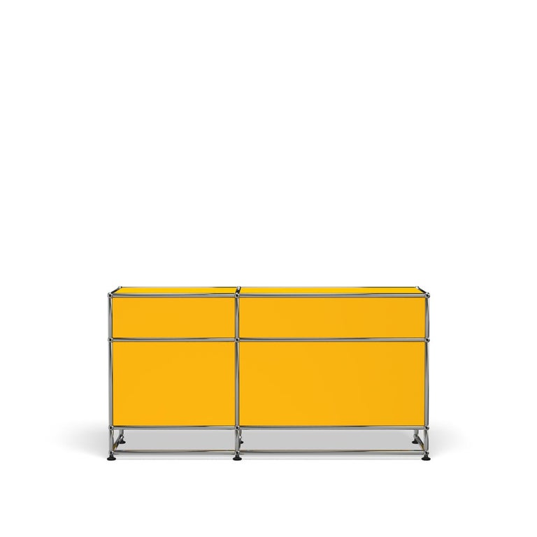 For Sale: Yellow (Golden Yellow) USM Haller Media O3 Storage System 4