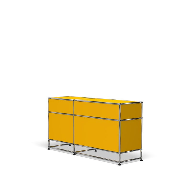 For Sale: Yellow (Golden Yellow) USM Haller Media O3 Storage System 5
