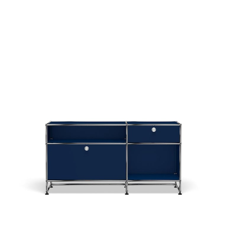 For Sale: Blue (Steel Blue) USM Haller Media O3 Storage System