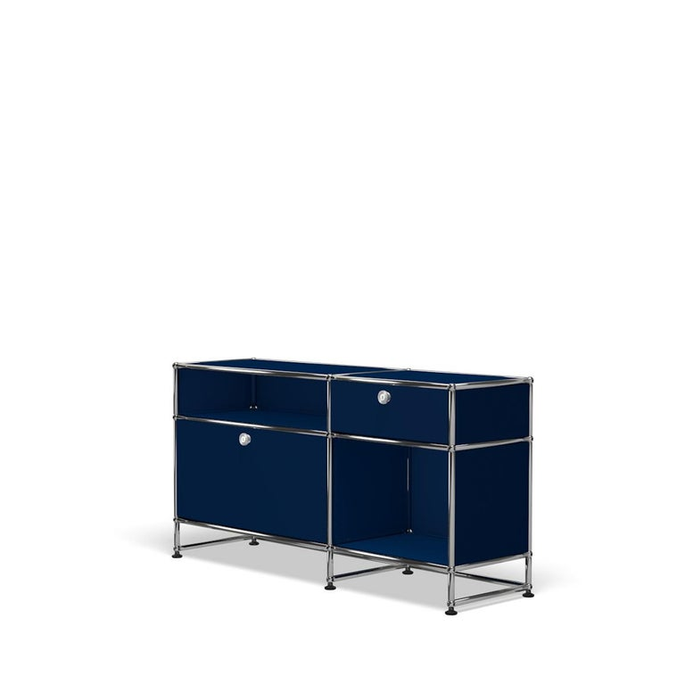For Sale: Blue (Steel Blue) USM Haller Media O3 Storage System 2