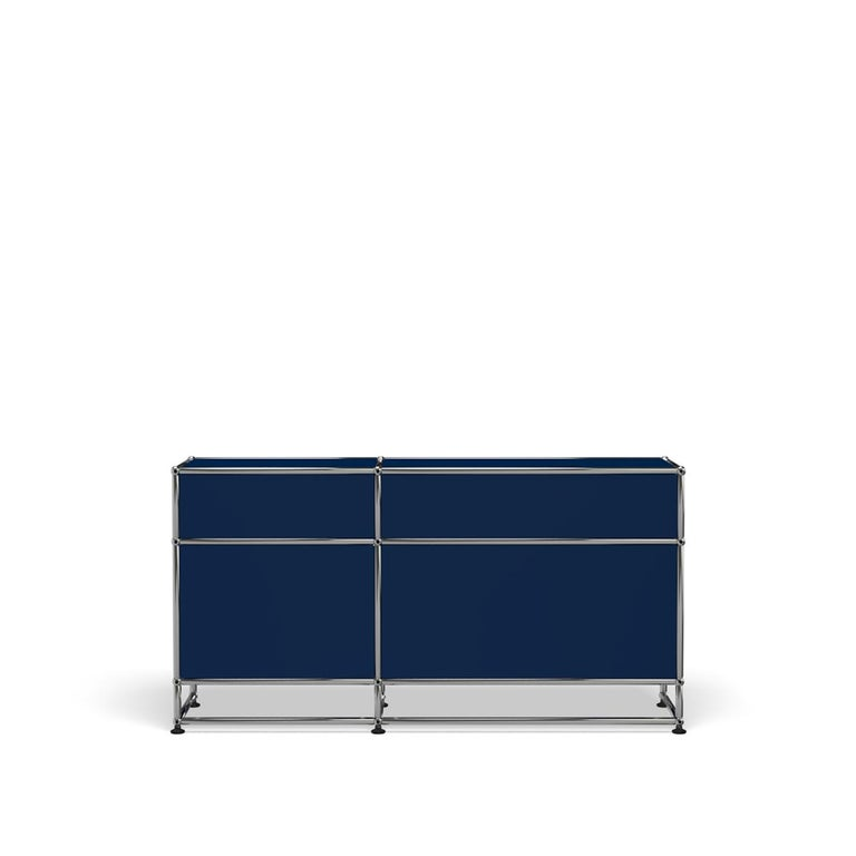 For Sale: Blue (Steel Blue) USM Haller Media O3 Storage System 4