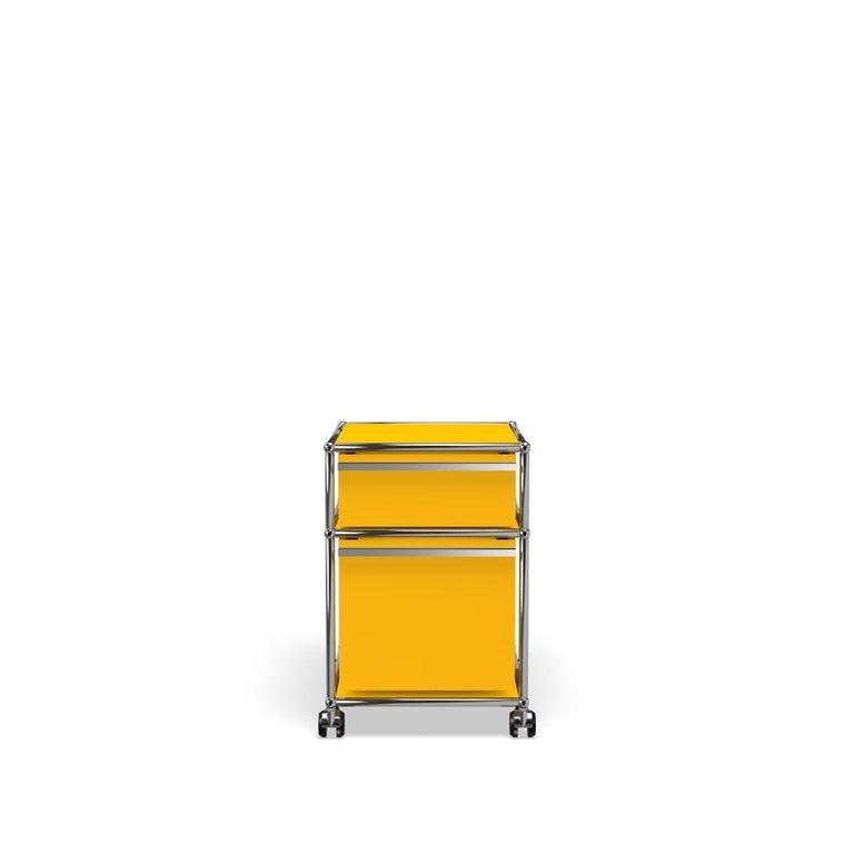 For Sale: Yellow (Golden Yellow) USM Haller Pedestal M Storage System