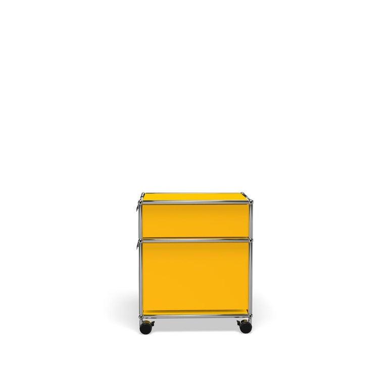 For Sale: Yellow (Golden Yellow) USM Haller Pedestal M Storage System 3