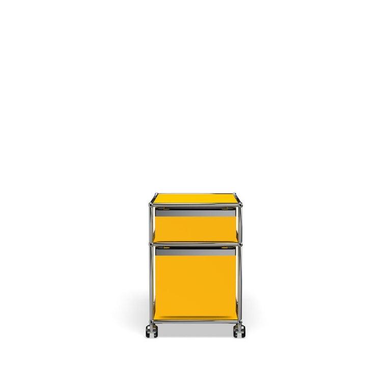 For Sale: Yellow (Golden Yellow) USM Haller Pedestal M Storage System 4