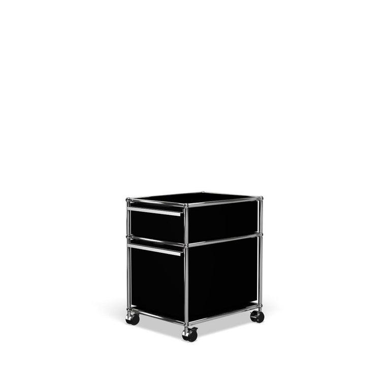 For Sale: Black (Graphite Black) USM Haller Pedestal M Storage System 2