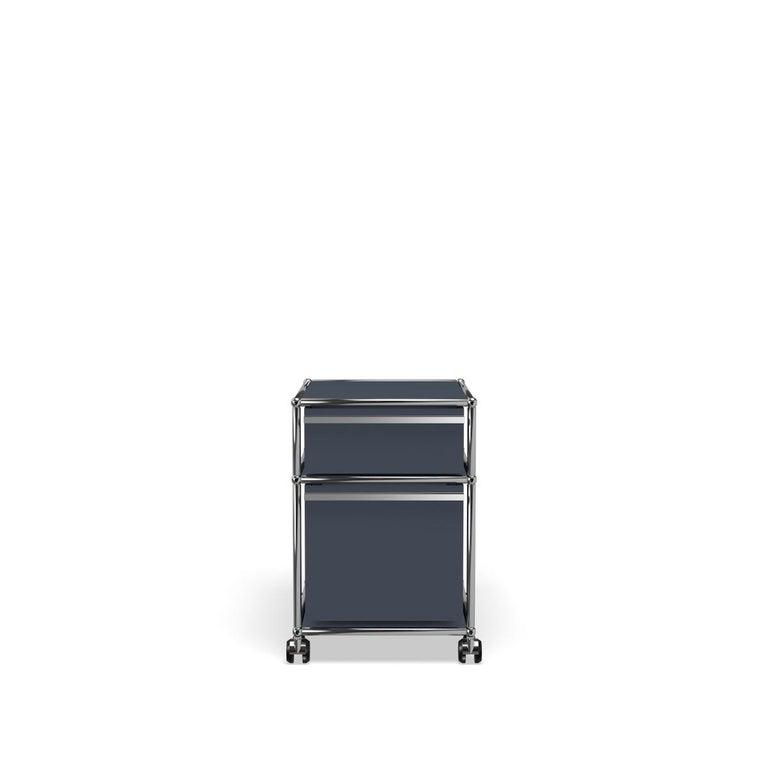 For Sale: Gray (Anthracite) USM Haller Pedestal M Storage System