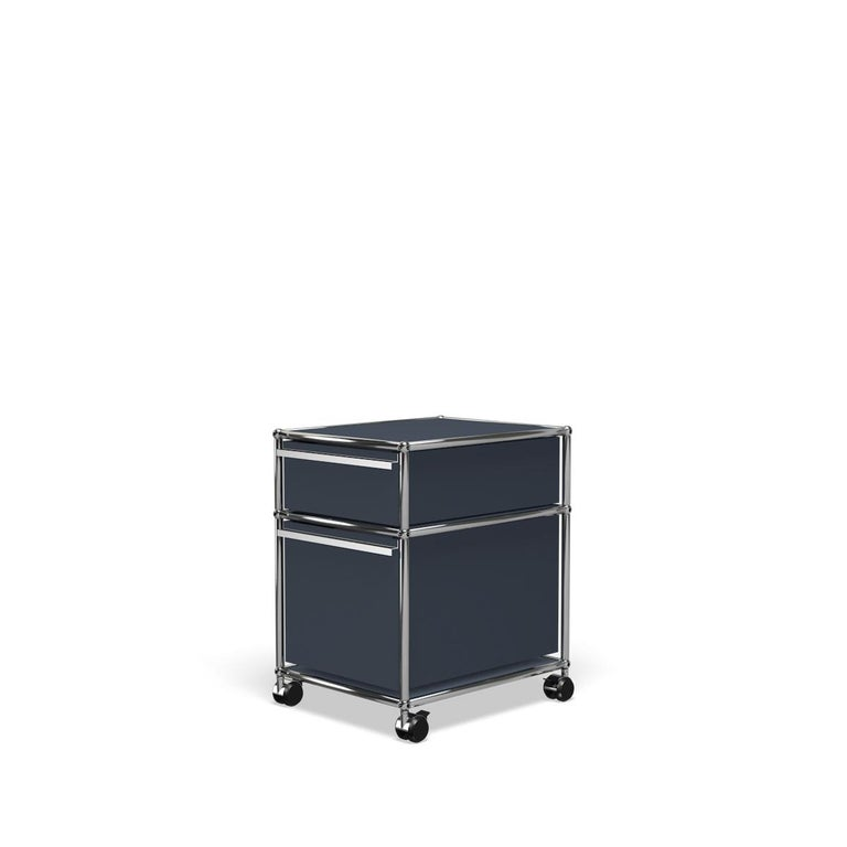 For Sale: Gray (Anthracite) USM Haller Pedestal M Storage System 2