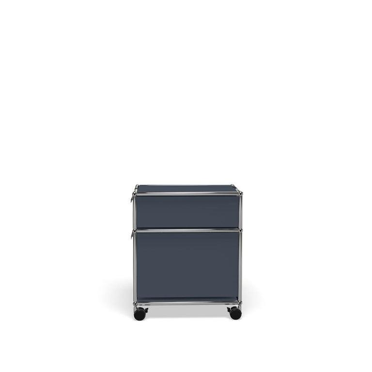For Sale: Gray (Anthracite) USM Haller Pedestal M Storage System 3