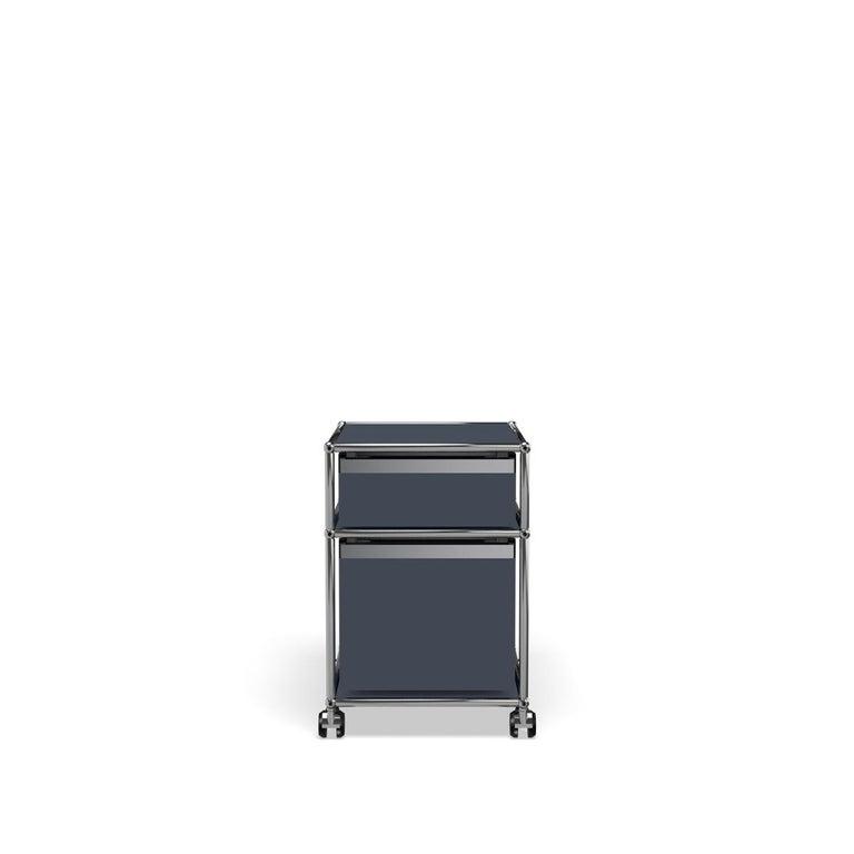 For Sale: Gray (Anthracite) USM Haller Pedestal M Storage System 4