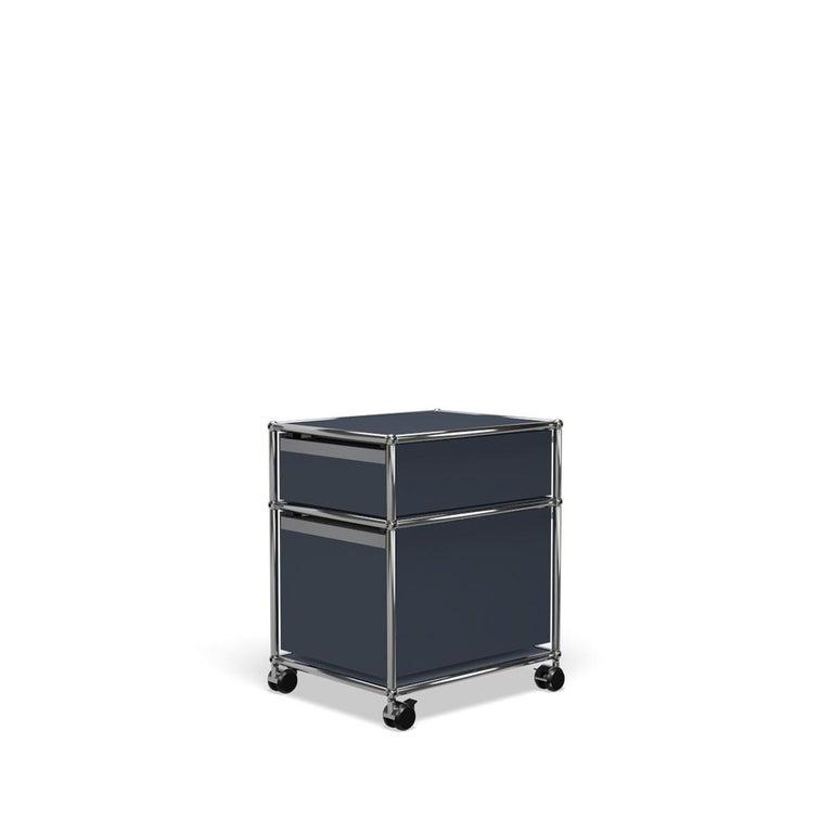 For Sale: Gray (Anthracite) USM Haller Pedestal M Storage System 5