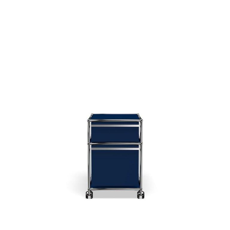 For Sale: Blue (Steel Blue) USM Haller Pedestal M Storage System