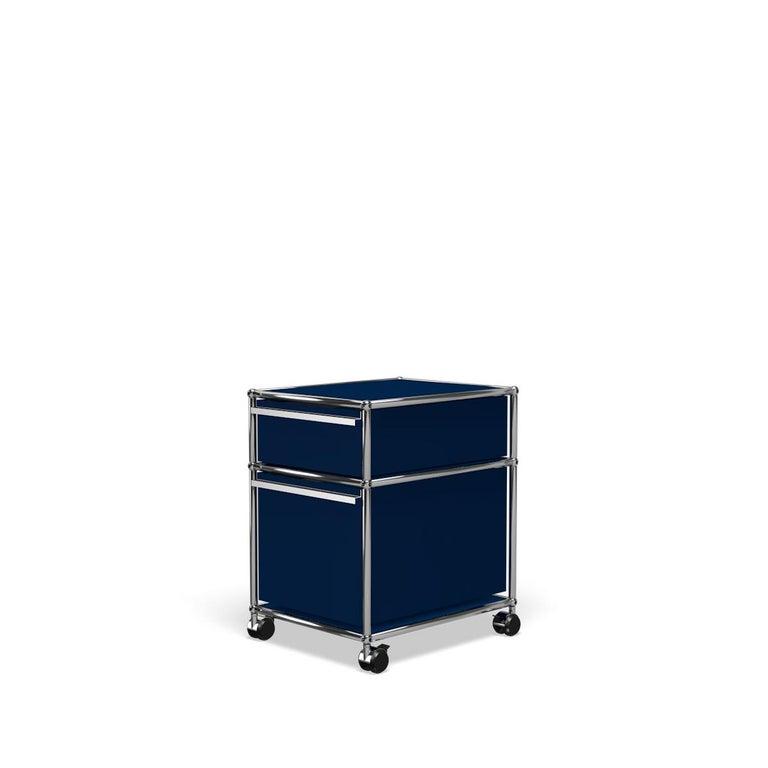 For Sale: Blue (Steel Blue) USM Haller Pedestal M Storage System 2