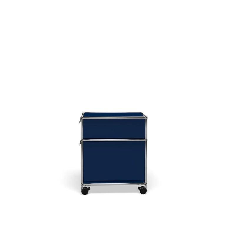 For Sale: Blue (Steel Blue) USM Haller Pedestal M Storage System 3