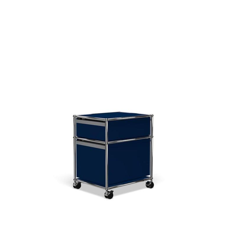 For Sale: Blue (Steel Blue) USM Haller Pedestal M Storage System 5