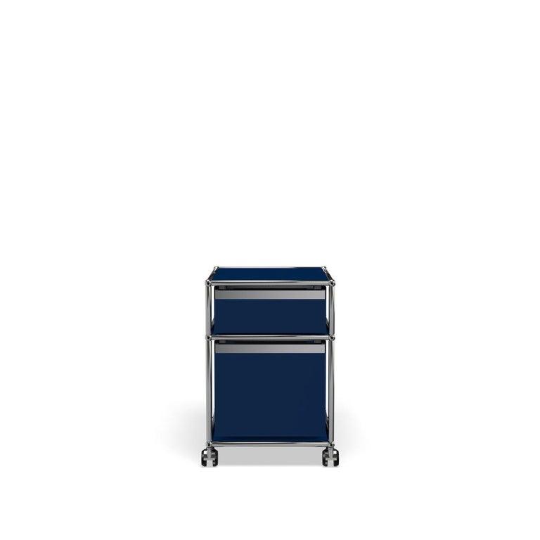 For Sale: Blue (Steel Blue) USM Haller Pedestal M Storage System 4